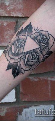 тату гравюра №68 – классный вариант рисунка, который удачно можно использовать для переделки и нанесения как тату гравюра на руке