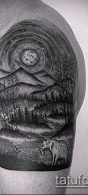 тату гравюра №382 – крутой вариант рисунка, который удачно можно использовать для переделки и нанесения как тату гравюра на руку