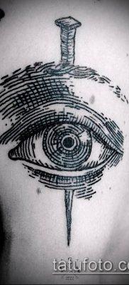 тату гравюра №558 – прикольный вариант рисунка, который легко можно использовать для доработки и нанесения как тату гравюра рембрандта