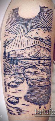 тату гравюра №241 – интересный вариант рисунка, который хорошо можно использовать для доработки и нанесения как тату гравюра на руку