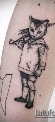 тату гравюра №552 – крутой вариант рисунка, который удачно можно использовать для переработки и нанесения как тату гравюра маленькая