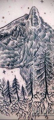 тату гравюра №486 – крутой вариант рисунка, который легко можно использовать для переделки и нанесения как тату гравюра на руку