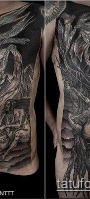 тату гравюра №748 – уникальный вариант рисунка, который хорошо можно использовать для преобразования и нанесения как Engraving tattoo