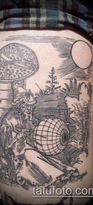 тату гравюра №138 – уникальный вариант рисунка, который удачно можно использовать для преобразования и нанесения как тату гравюра рембрандта