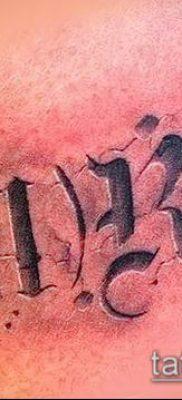 фото тату группа крови (Blood type Tattoo) (значение) – пример рисунка – 008 tatufoto.com