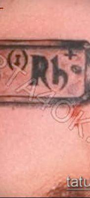 фото тату группа крови (Blood type Tattoo) (значение) – пример рисунка – 019 tatufoto.com