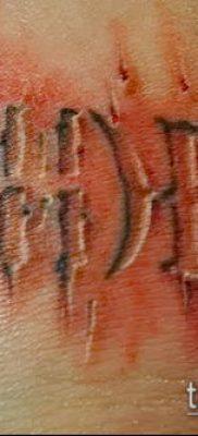 фото тату группа крови (Blood type Tattoo) (значение) – пример рисунка – 023 tatufoto.com