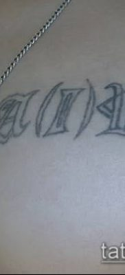 фото тату группа крови (Blood type Tattoo) (значение) – пример рисунка – 028 tatufoto.com