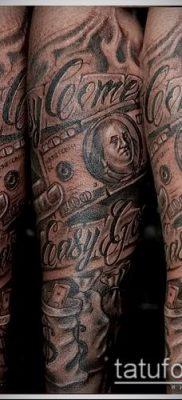 фото тату деньги (Tattoo money) (значение) – пример рисунка – 037 tatufoto.com