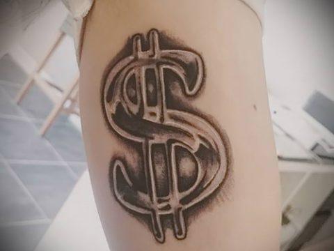 фото тату деньги (Tattoo money) (значение) - пример рисунка - 047 tatufoto.com
