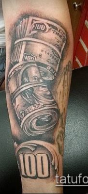 фото тату деньги (Tattoo money) (значение) – пример рисунка – 052 tatufoto.com