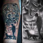 тату для мужчин №572 - достойный вариант рисунка, который легко можно использовать для доработки и нанесения как тату на спину для мужчин