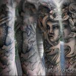 тату для мужчин №599 - достойный вариант рисунка, который легко можно использовать для доработки и нанесения как тату на спину для мужчин