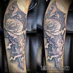 тату для мужчин №724 - крутой вариант рисунка, который легко можно использовать для переделки и нанесения как тату на спину для мужчин