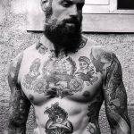 тату для мужчин №611 - интересный вариант рисунка, который удачно можно использовать для доработки и нанесения как тату для мужчин