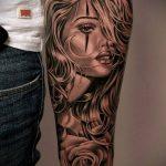 тату для мужчин №269 - прикольный вариант рисунка, который удачно можно использовать для переработки и нанесения как тату на спину для мужчин