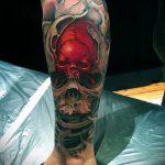 тату для мужчин №195 - интересный вариант рисунка, который хорошо можно использовать для переработки и нанесения как тату на кисть руки для мужчин
