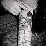 тату для мужчин №151 - эксклюзивный вариант рисунка, который удачно можно использовать для преобразования и нанесения как тату обереги для мужчин