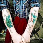 тату для мужчин №945 - крутой вариант рисунка, который успешно можно использовать для переделки и нанесения как тату для мужчин