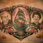 тату для мужчин №789 - классный вариант рисунка, который успешно можно использовать для переработки и нанесения как тату обереги для мужчин