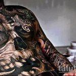 тату для мужчин №58 - уникальный вариант рисунка, который легко можно использовать для доработки и нанесения как тату на спину для мужчин