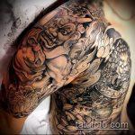 тату для мужчин №577 - достойный вариант рисунка, который хорошо можно использовать для переработки и нанесения как тату для мужчин