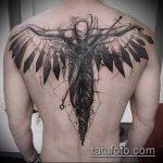 тату для мужчин №415 - классный вариант рисунка, который удачно можно использовать для доработки и нанесения как тату обереги для мужчин