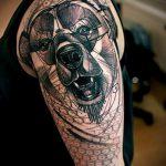 тату для мужчин №728 - прикольный вариант рисунка, который удачно можно использовать для переделки и нанесения как тату для мужчин