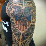 тату для мужчин №58 - эксклюзивный вариант рисунка, который легко можно использовать для доработки и нанесения как тату на спину для мужчин