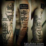 тату для мужчин №301 - классный вариант рисунка, который хорошо можно использовать для преобразования и нанесения как Men's tattoos