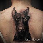 тату доберман №791 - прикольный вариант рисунка, который легко можно использовать для преобразования и нанесения как тату доберман щенок