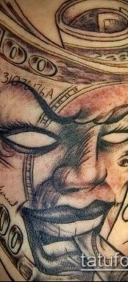 фото тату доллар (tattoo dollar) (значение) – пример рисунка – 001 tatufoto.com