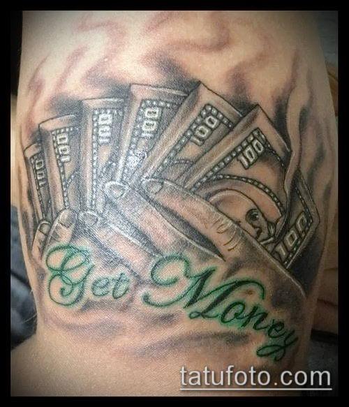 фото тату доллар (tattoo dollar) (значение) - пример рисунка - 005 tatufoto.com