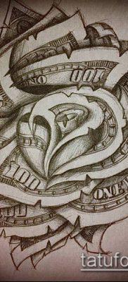 фото тату доллар (tattoo dollar) (значение) – пример рисунка – 006 tatufoto.com