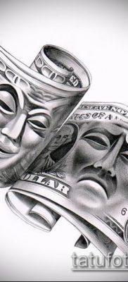 фото тату доллар (tattoo dollar) (значение) – пример рисунка – 007 tatufoto.com
