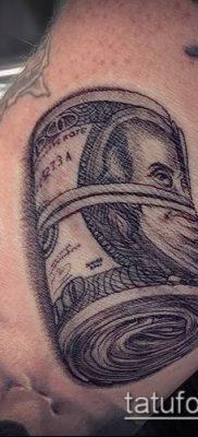 фото тату доллар (tattoo dollar) (значение) – пример рисунка – 009 tatufoto.com