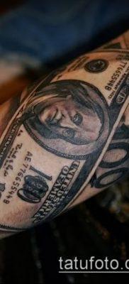 фото тату доллар (tattoo dollar) (значение) – пример рисунка – 010 tatufoto.com