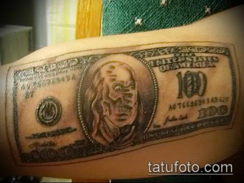 фото тату доллар (tattoo dollar) (значение) - пример рисунка - 018 tatufoto.com