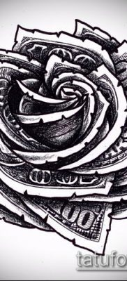 фото тату доллар (tattoo dollar) (значение) – пример рисунка – 024 tatufoto.com
