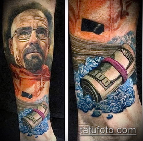 фото тату доллар (tattoo dollar) (значение) - пример рисунка - 028 tatufoto.com