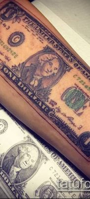 фото тату доллар (tattoo dollar) (значение) – пример рисунка – 029 tatufoto.com