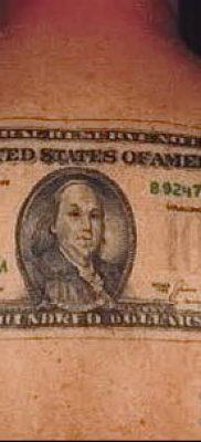 фото тату доллар (tattoo dollar) (значение) – пример рисунка – 030 tatufoto.com