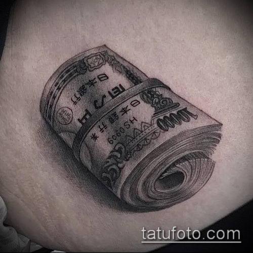 фото тату доллар (tattoo dollar) (значение) - пример рисунка - 035 tatufoto.com