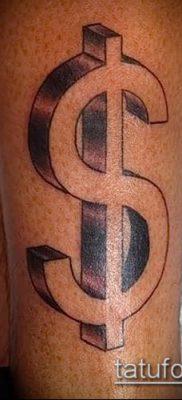 фото тату доллар (tattoo dollar) (значение) – пример рисунка – 036 tatufoto.com