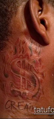 фото тату доллар (tattoo dollar) (значение) – пример рисунка – 040 tatufoto.com