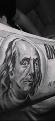 фото тату доллар (tattoo dollar) (значение) – пример рисунка – 045 tatufoto.com