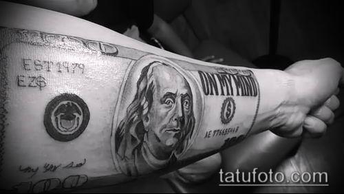 фото тату доллар (tattoo dollar) (значение) - пример рисунка - 045 tatufoto.com