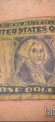 фото тату доллар (tattoo dollar) (значение) – пример рисунка – 046 tatufoto.com