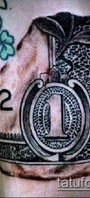 фото тату доллар (tattoo dollar) (значение) – пример рисунка – 048 tatufoto.com