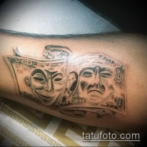 фото тату доллар (tattoo dollar) (значение) - пример рисунка - 052 tatufoto.com